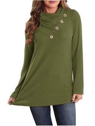 Lovaru Long Sleeve Buttons Women Loose Top Shirt