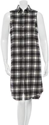 Jenni Kayne Plaid Button-Up Dress w/ Tags