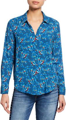Velvet Heart Parakeet-Printed Button-Front Shirt