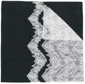 Valentino zig-zag lace panel scarf