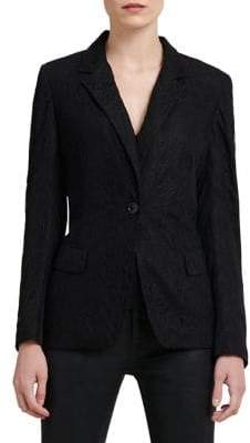 Donna Karan One-Button Lace Blazer