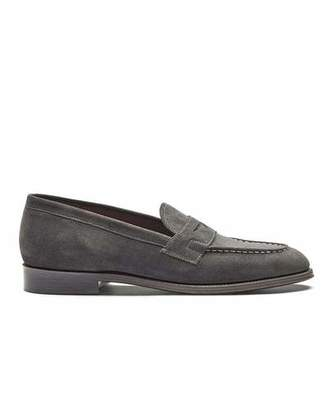 Grenson Shoes Floyd Loafer in Lavagne Suede