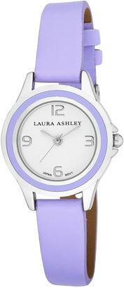 Laura Ashley Womens Purple Retro Enamel Case With Matching Bezel Watch La31009Pu $295 thestylecure.com