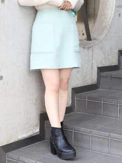 dazzlin (ダズリン) - 【sw】ビックポケットシャギーミニスカート