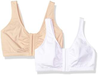 Fruit of the Loom Women's Front Close Builtup Sports Bra