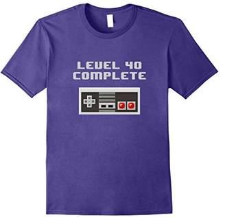 Level 40 Complete retro video games 40th Birthday Fun TShirt