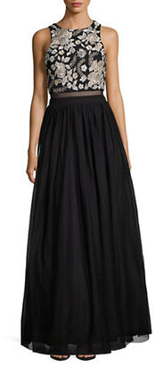 Betsy & Adam Embellished Ballgown $319 thestylecure.com
