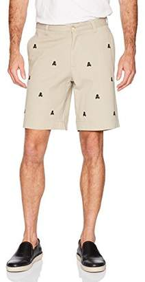 Thirty Five Kent Men's Cotton Twill Skull and Bones Embroidered Shorts