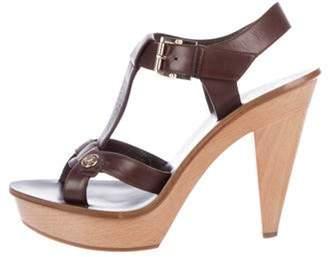 Christian Dior T-Strap Platform Sandals gold T-Strap Platform Sandals
