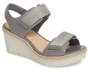 Clarks R) Palm Shine Wedge Sandal