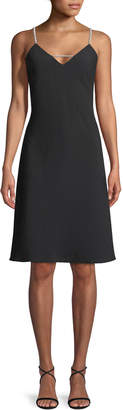 Karl Lagerfeld Paris Pearlescent Strapped Crepe Dress