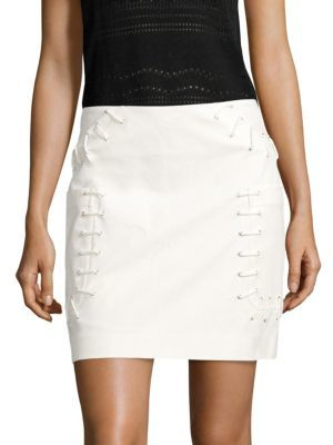 Derek Lam 10 Crosby Twill Mini Skirt $350 thestylecure.com