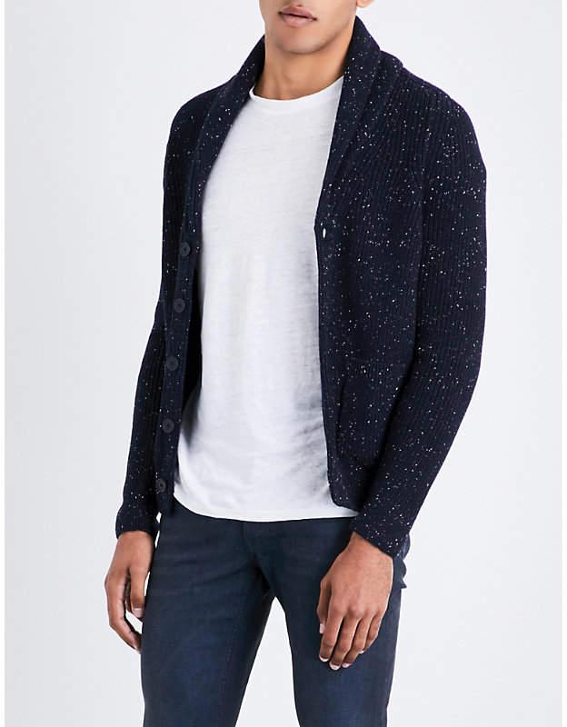 Sandro Ribbed wool-blend cardigan