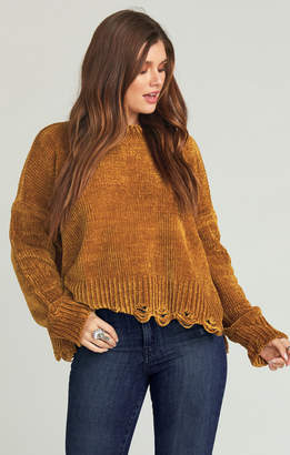 Show Me Your Mumu Fawn Sweater ~ Ochre Chenille Knit