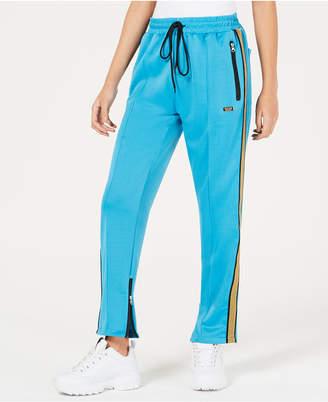 Reason Glitter-Strip Track Pants