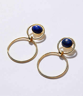Lou & Grey Nectar Nectar Lapis Stone Hoop Earrings