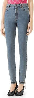 Gucci Stamp Print Skinny Jeans
