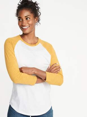 Old Navy Slub-Knit Color-Blocked Raglan-Sleeve Tee for Women