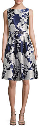 Eliza J Floral-Printed A-Line Dress $288 thestylecure.com