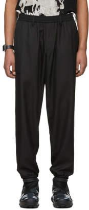 Yohji Yamamoto Black Plastic Cord Lounge Pants