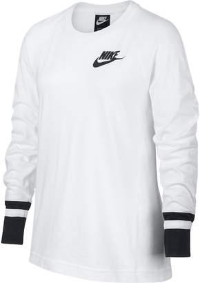 Nike Girls 7-16 Mesh Sleeve Top