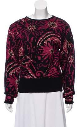 Christian Dior Long Sleeve Metallic Sweater