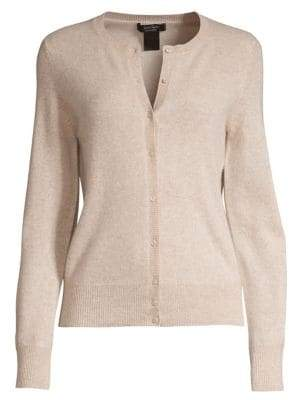 Lord & Taylor Petite Button Front Essential Cashmere Cardigan