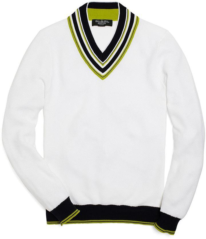 Brooks Brothers ProSportTM Supima® Tennis V-Neck Sweater