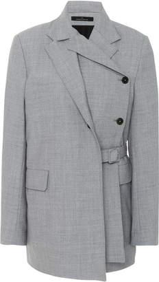 Rokh Grey Belted Layer Blazer
