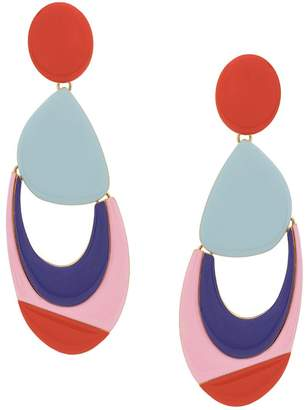 Emilio Pucci statement earrings