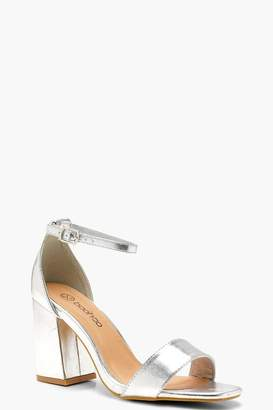 boohoo Wide Fit Square Toe 2 Part Block Heels