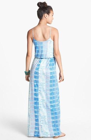 Lush Knit Ombré Stripe Maxi Dress (Juniors)