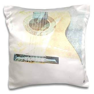 3dRose Guitar Art Music Stringed Instruments - Pillow Case, 16 by 16-inch