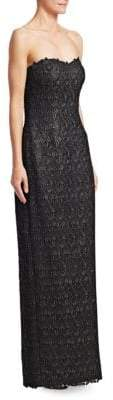 Morley Helen Roma Beaded Lace Column Gown