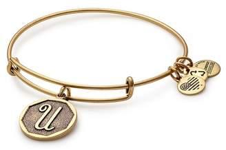 Alex and Ani Initial 'U' Charm Expandable Wire Bracelet