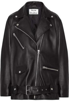 Acne Studios - Myrtle Leather Biker Jacket - Black