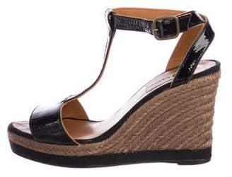 Lanvin Patent Leather Espadrille Sandals