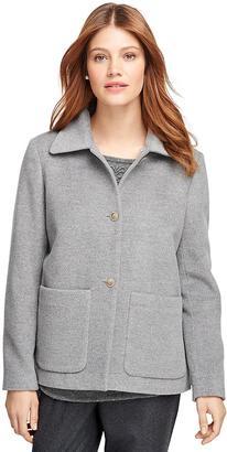 Angora Wool Short Coat $598 thestylecure.com