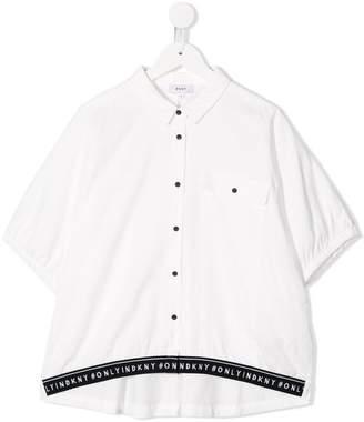 DKNY logo print band shirt