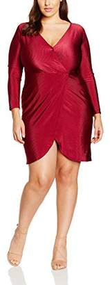 boohoo Plus Women's Slinky Rib Dress