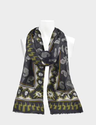 Zadig & Voltaire Bindi Paisley Stole in Black Synthetic Fabrics