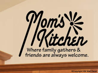H&M Wall Decal Mom's Kitchen Removable Wall Decal