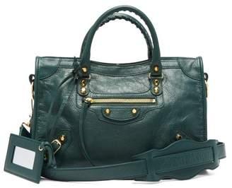 Balenciaga Classic City Leather Bag - Womens - Dark Green