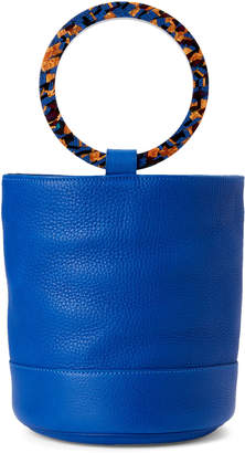 Simon Miller Cobalt Leather Bonsai Bucket Bag