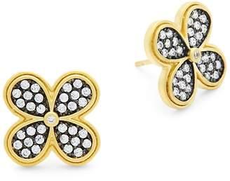 Freida Rothman Women's Pave Clover Oversized Stud Earrings
