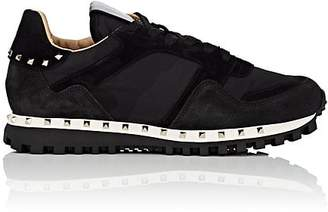 Valentino Women's Studded Nylon & Suede Sneakers