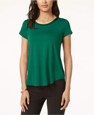 69f76e9f1f776 Alfani Satin-Trim High-Low T-Shirt