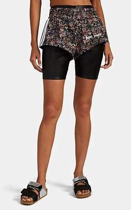 Palm Angels Women's Floral Tech-Jersey Mini-Shorts