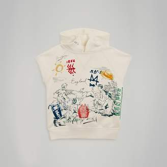 Burberry Adventure Print Cotton Sleeveless Hoodie