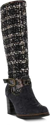 L ARTISTE L'Artiste Knee High Tweed Boot